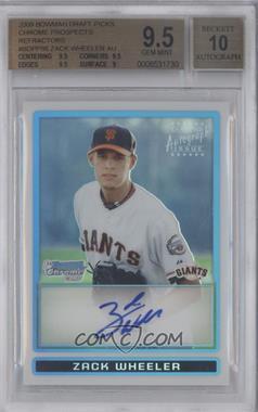 2009 Bowman Draft Picks & Prospects - Prospects Chrome - Refractor #BDPP86 - Zack Wheeler /500 [BGS9.5]