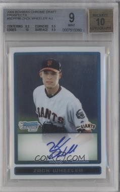 2009 Bowman Draft Picks & Prospects - Prospects Chrome #BDPP86 - Zack Wheeler [BGS9]
