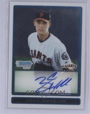 2009 Bowman Draft Picks & Prospects - Prospects Chrome #BDPP86 - Zack Wheeler [Mint]