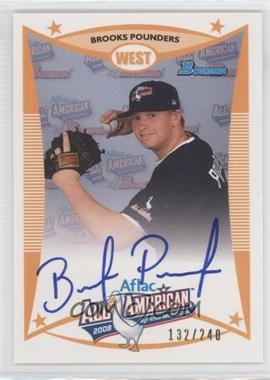 2009 Bowman Draft Picks & Prospects Aflac All-American Certified Autographs [Autographed] #AFLAC-BP - Brooks Pounders /240