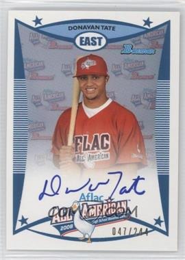 2009 Bowman Draft Picks & Prospects Aflac All-American Certified Autographs [Autographed] #AFLAC-DTA - Donavan Tate /244