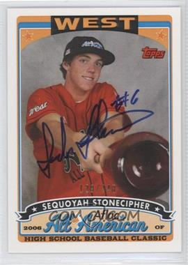 2009 Bowman Draft Picks & Prospects Aflac All-American Certified Autographs [Autographed] #AFLAC-SS - Sequoyah Stonecipher