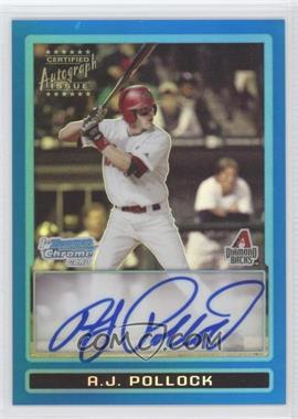2009 Bowman Draft Picks & Prospects Prospects Chrome Blue Refractor #BDPP82 - A.J. Pollock /150