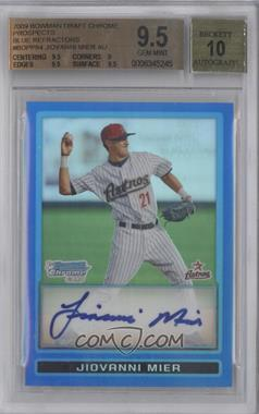 2009 Bowman Draft Picks & Prospects Prospects Chrome Blue Refractor #BDPP84 - Jiovanni Mier [BGS 9.5]