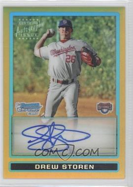 2009 Bowman Draft Picks & Prospects Prospects Chrome Gold Refractor #BDPP95 - Drew Storen /50