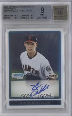 2009 Bowman Draft Picks & Prospects Prospects Chrome #BDPP86 - Zack Wheeler [BGS 9]