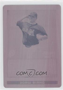 2009 Bowman Draft Picks & Prospects Prospects Printing Plate Magenta #BDPP31 - Chris Wade /1