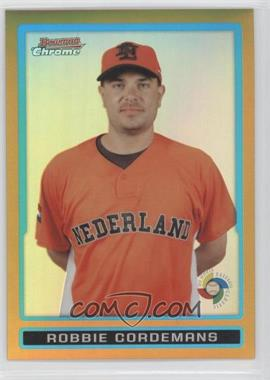 2009 Bowman Draft Picks & Prospects WBC Chrome Gold Refractor #BDPW29 - Robbie Cordemans /50