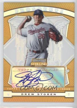 2009 Bowman Sterling Prospects Gold Refractors #BSP-DS - Drew Storen /50