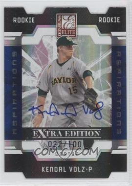 2009 Donruss Elite Extra Edition - [Base] - Aspirations Signatures [Autographed] #116 - Kendal Volz /100