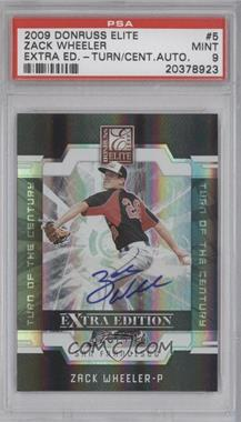 2009 Donruss Elite Extra Edition - [Base] - Turn of the Century Signatures [Autographed] #5 - Zack Wheeler /744 [PSA 9]