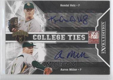 2009 Donruss Elite Extra Edition College Ties Signatures #9 - Aaron Miles, Kendal Volz /50