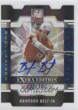 2009 Donruss Elite Extra Edition Die-Cut Aspirations Signatures [Autographed] #33 - Brandon Belt /100