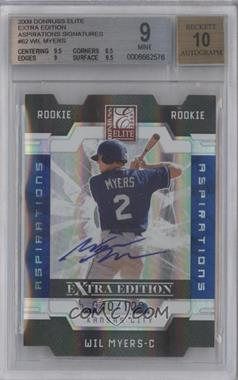 2009 Donruss Elite Extra Edition Die-Cut Aspirations Signatures [Autographed] #62 - Wil Myers /100 [BGS 9]
