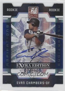 2009 Donruss Elite Extra Edition Die-Cut Aspirations Signatures [Autographed] #85 - Evan Chambers /100