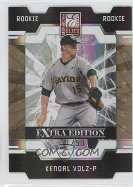 2009 Donruss Elite Extra Edition Gold Status #116 - Kendal Volz /50
