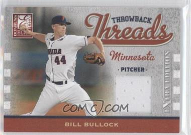 2009 Donruss Elite Extra Edition Throwback Threads #TT-BB - Bill Bullock /250
