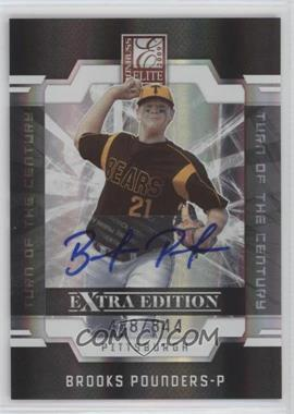 2009 Donruss Elite Extra Edition Turn of the Century Signatures [Autographed] #19 - Brooks Pounders /844