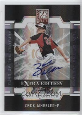 2009 Donruss Elite Extra Edition Turn of the Century Signatures [Autographed] #5 - Zack Wheeler /744