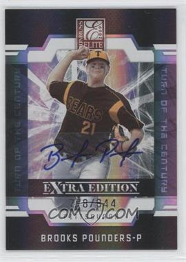 2009 Donruss Elite Extra Edition Turn of the Century Signatures #19 - Brooks Pounders /844