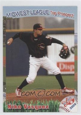 2009 Grandstand Midwest League Top Prospects - [Base] #55 - Niko Vasquez
