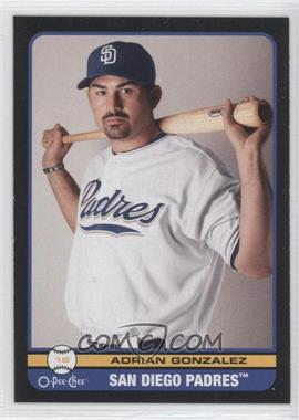 2009 O-Pee-Chee - [Base] - Black Border Blank Back #N/A - Adrian Gonzalez