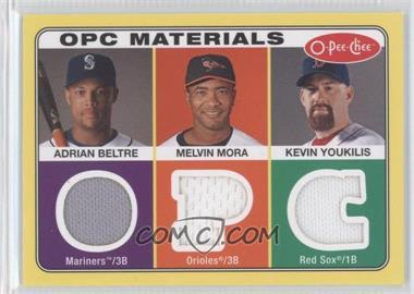 2009 O-Pee-Chee Materials #OPC-BMY - Adrian Beltre, Melvin Mora, Kevin Youkilis