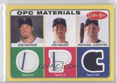 2009 O-Pee-Chee Materials #OPC-NMC - Joe Nathan, Joe Mauer, Michael Cuddyer