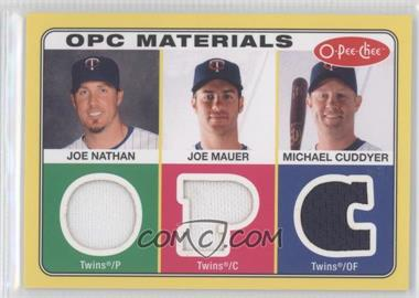 2009 O-Pee-Chee Materials #OPC-NMC - Joe Nathan, Joe Mauer, Michael Cuddyer