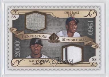 2009 SP Legendary Cuts Generations Memorabilia #GM-BR - Ernie Banks, Hanley Ramirez