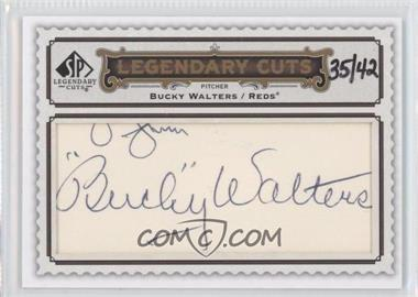 2009 SP Legendary Cuts Legendary Cuts #LC-214 - Bucky Walters /42