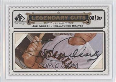 2009 SP Legendary Cuts Legendary Cuts #LC-240 - Joe Adcock /30