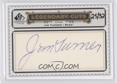 2009 SP Legendary Cuts Legendary Cuts #LC-246 - Jim Turner /32