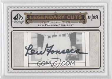2009 SP Legendary Cuts Legendary Cuts #LC-250 - Lew Fonseca /29