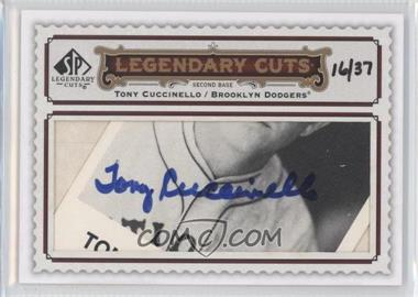 2009 SP Legendary Cuts Legendary Cuts #LC-296 - Tony Cuccinello /37