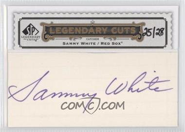 2009 SP Legendary Cuts Legendary Cuts #LC-299 - Sammy White /28