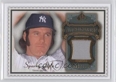 2009 SP Legendary Cuts Legendary Memorabilia Olive Green #LM-SL - Sparky Lyle /129