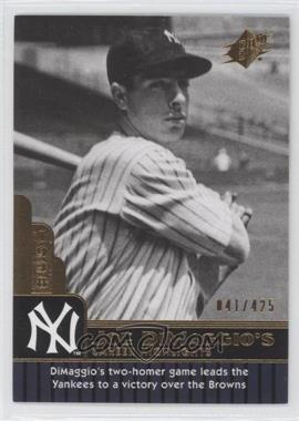 2009 SPx - Joe DiMaggio Career Highlights #JD-20 - Joe DiMaggio /425