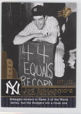 2009 SPx - Joe DiMaggio Career Highlights #JD-68 - Joe DiMaggio /425