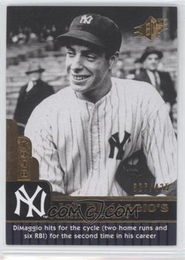 2009 SPx - Joe DiMaggio Career Highlights #JD-72 - Joe DiMaggio /425