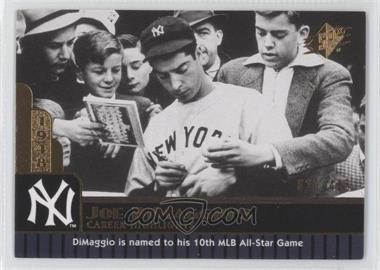 2009 SPx - Joe DiMaggio Career Highlights #JD-76 - Joe DiMaggio /425