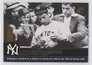 2009 SPx Joe DiMaggio Career Highlights #JD-16 - Joe DiMaggio /425