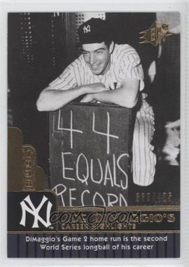 2009 SPx Joe DiMaggio Career Highlights #JD-23 - Joe DiMaggio /425