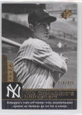 2009 SPx Joe DiMaggio Career Highlights #JD-65 - Joe DiMaggio /425