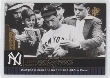 2009 SPx Joe DiMaggio Career Highlights #JD-76 - Joe DiMaggio /425