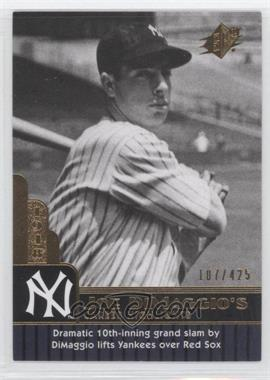 2009 SPx Joe DiMaggio Career Highlights #JD-80 - Joe DiMaggio /425