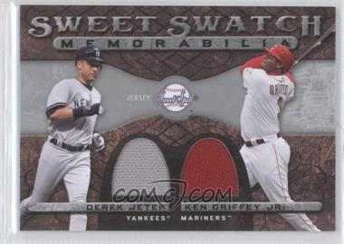 2009 Sweet Spot - Sweet Swatch Memorabilia Dual #DS-GJ - Derek Jeter, Ken Griffey Jr.