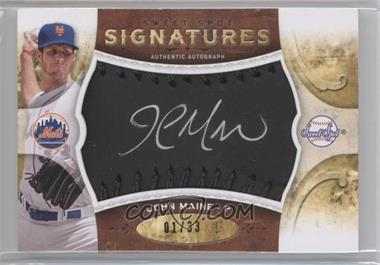 2009 Sweet Spot Signatures Black Baseball Black Stitching Silver Ink #S-JM - John Maine /33