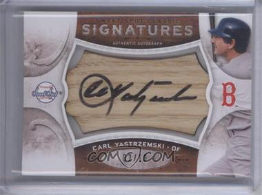 2009 Sweet Spot Signatures Classic Brown Bat Black Ink #SC-CY - Carl Yastrzemski /10