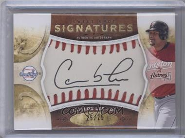 2009 Sweet Spot Signatures White Ball Red Stitch Black Ink #S-CL - Carlos Lee /25